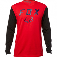 Fox Contened LS Tech Tee Dark Red