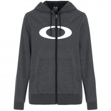 Oakley Ellipse FrontZip Hoodie Blackout Light Heather